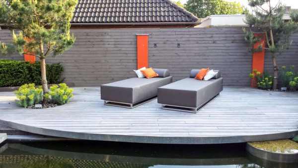 outdoor 2 seater lounger